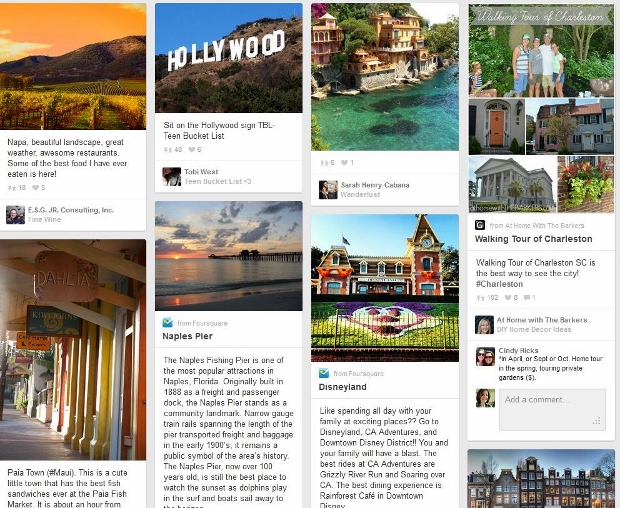 Pinterest search for best vacation