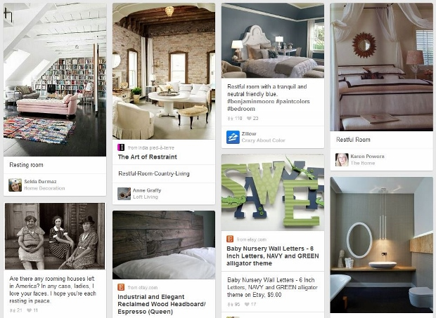 Pinterest search for restful rooms