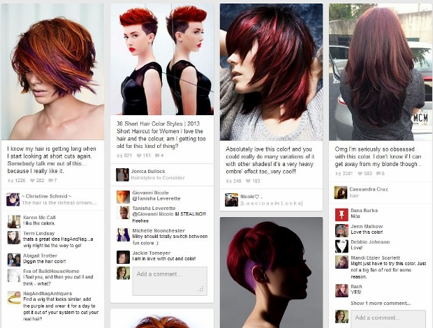 Pinterest search for short red hairstyles